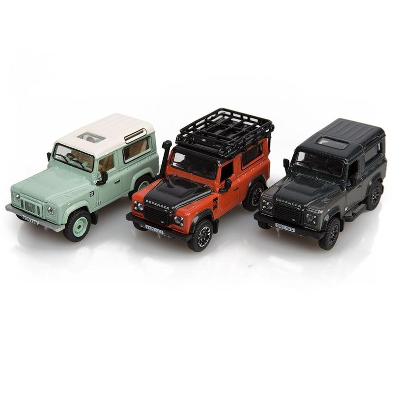 DEFENDER FINAL EDITION 3 PIECE SET 1:76 SCALE MO
